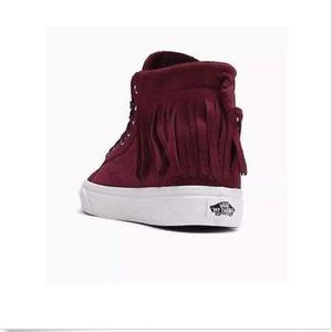 5f6b4d5024 Vans Shoes - Vans Sk8 Hi Moc Suede Port Royale Blanc Shoes